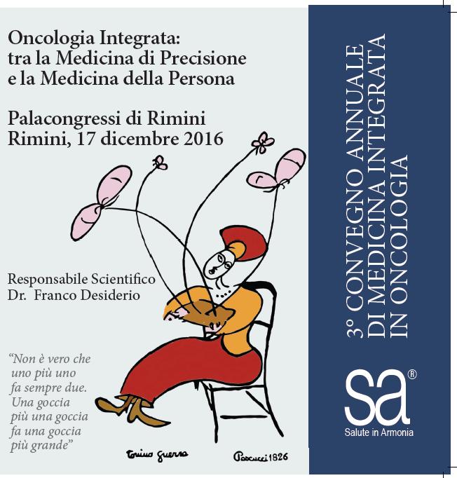 17 dicembre 2016 (Rimini): III CONVEGNO DI MEDICINA INTEGRATA IN ONCOLOGIA
