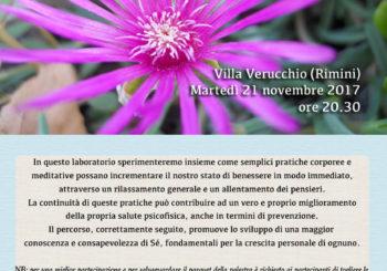 Serata gratuita di Obiettivo Benessere Globale a Villa Verucchio (Rimini)