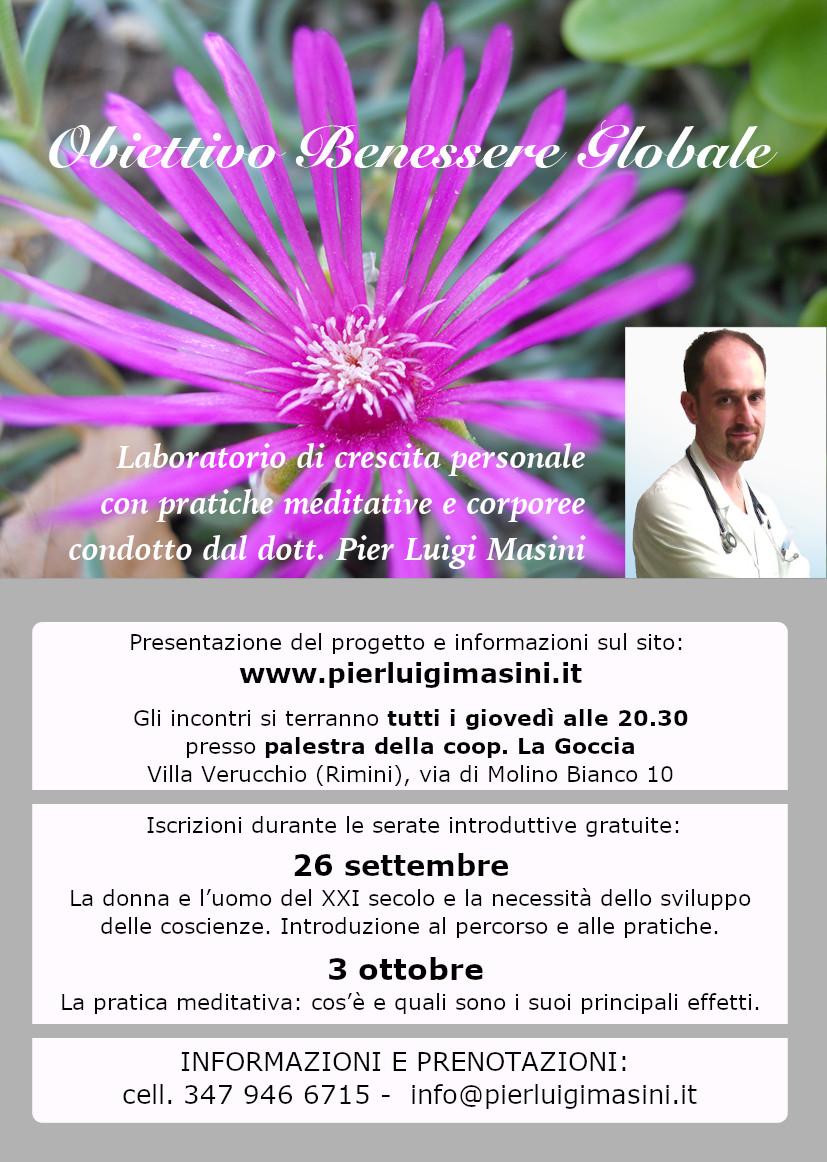 Serate Di Presentazione Di Obiettivo Benessere Globale 2019 2020 Dott Pier Luigi Masini