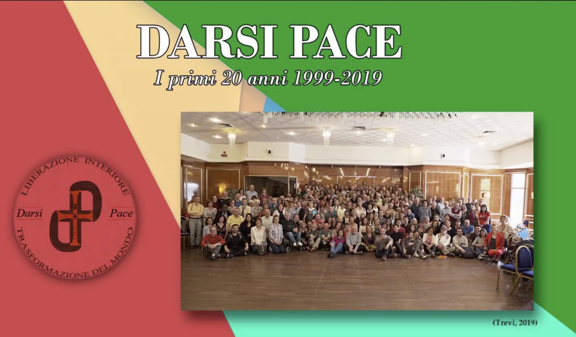 20 anni di Darsi Pace – serata gratuita del 10 ottobre 2019