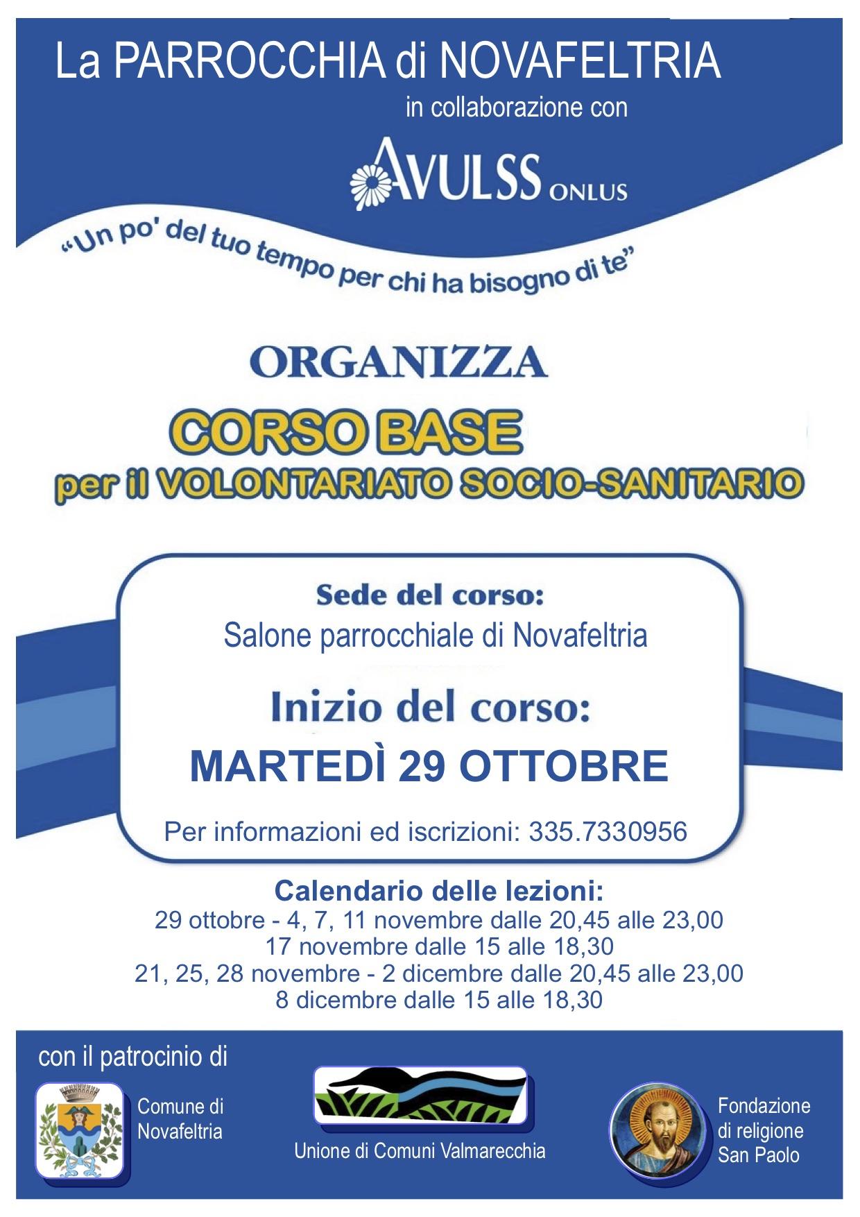 Corso base per Volontariato Socio-Sanitario (Novafeltria -Rimini)